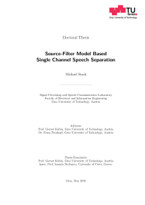 Thumbnail of page 1 of Source-Filter Model Based  Single Channel Speech Separation