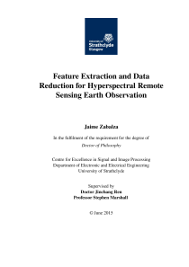 Thumbnail of page 1 of Feature Extraction and Data Reduction for Hyperspectral Remote Sensing Earth Observation