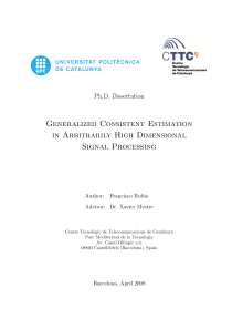 Thumbnail of Generalized Consistent Estimation in Arbitrarily High Dimensional Signal Processing