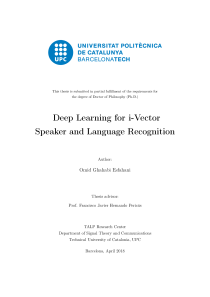 Thumbnail of Deep Learning for i-Vector Speaker and Language Recognition