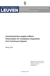 Thumbnail of Constrained Non-negative Matrix Factorization for Vocabulary Acquisition from Continuous Speech