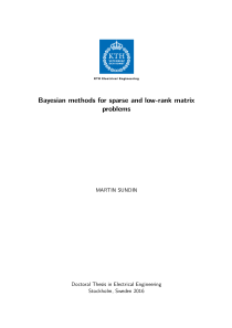 Thumbnail of Bayesian methods for sparse and low-rank matrix problems